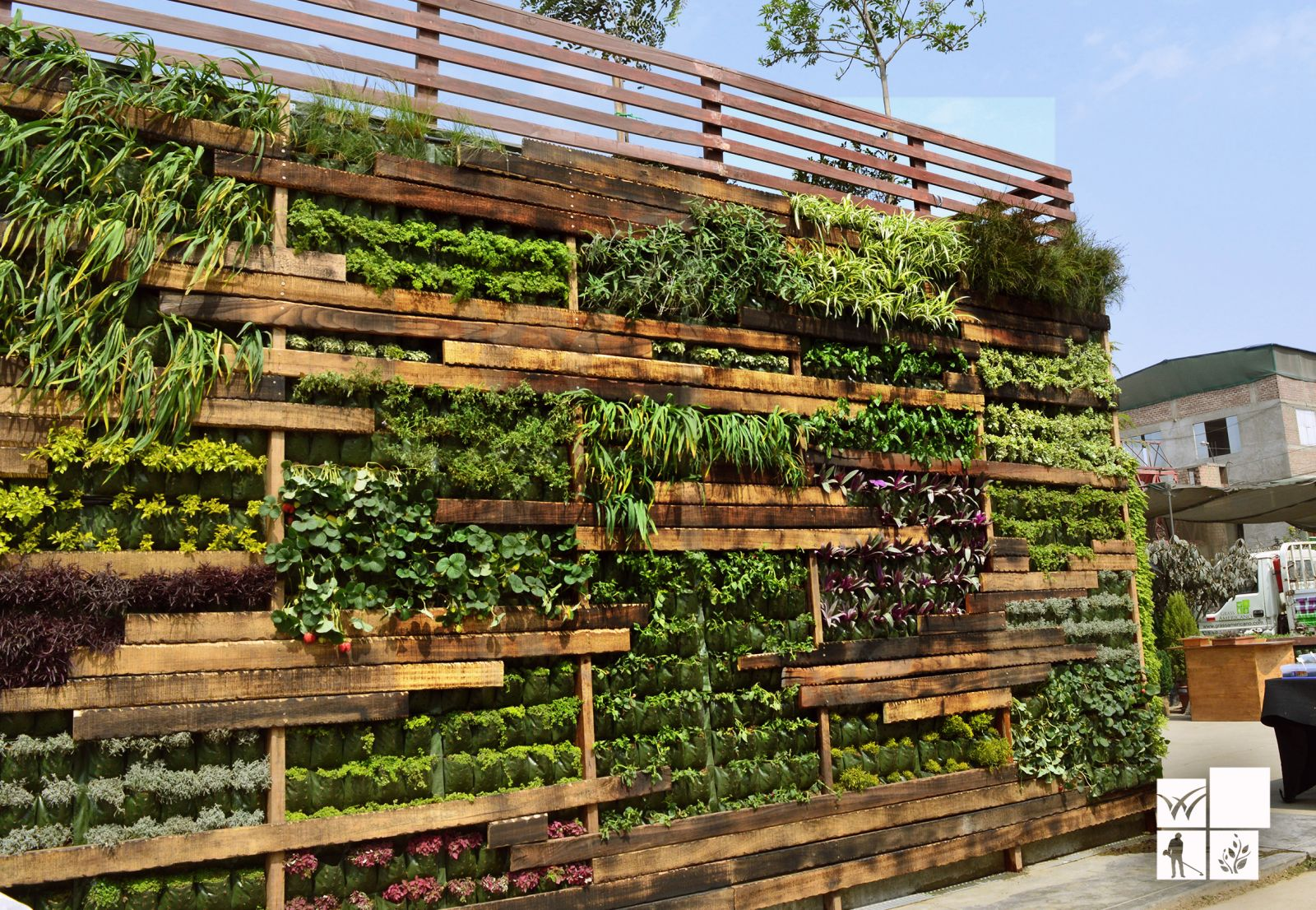 Conoce los beneficios de los green walls o muros verdes for Riego jardin vertical